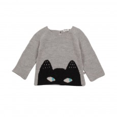 Exclusivité - Pull Chat Uni Gris clair