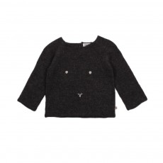 Exclusivité - Pull Lapin Gris anthracite