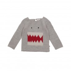 Exclusivité - Pull Monstre Gris