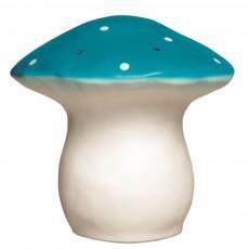 Lampe Champignon - Bleu pétrole