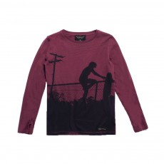 T-shirt Skate Longjohn Bordeaux