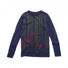 T-shirt Dinosaures Longjohn  Bleu marine