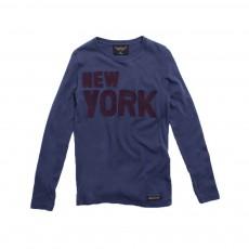 T-shirt New York Longjohn Bleu marine
