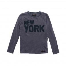 T-shirt New York Longjohn Gris chiné