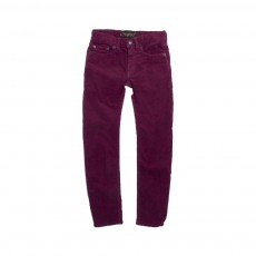Pantalon Velours Icon Bordeaux