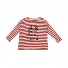 T-shirt Rayé Château Marmot Rouge