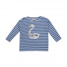 T-shirt Rayé Echo Park Bleu