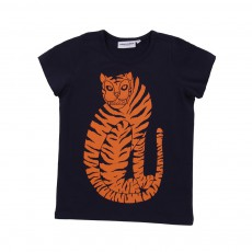 T-shirt Tigre manches longues Bleu marine