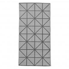 Tapis imprimé géométrique - Gris clair/Gris foncé