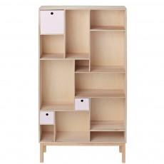 Bibliothèque à tiroirs - Rose pâle