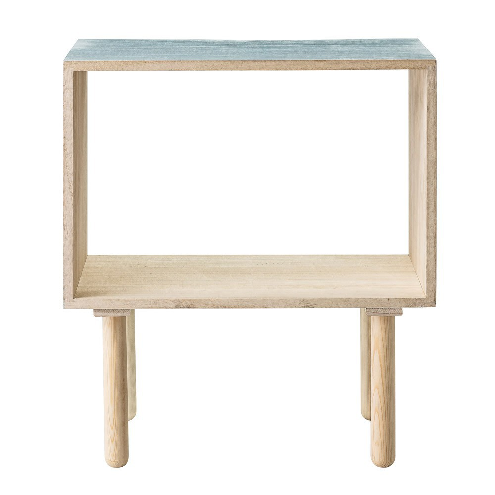 Table de nuit vert d 39 eau bloomingville mobilier - Table de nuit d angle ...