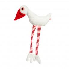 Doudou cigogne rouge