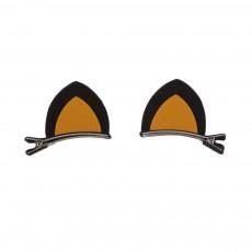 Barettes Oreilles Chat Jaune