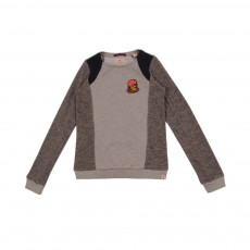 Sweat Tricolore Beige