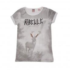 T-shirt R Belle Cerf Gris clair