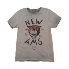 T-shirt Tigre New A.M.S Gris