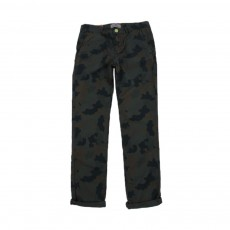 Pantalon Chino Camouflage Vert foncé