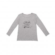T-shirt Walk Under The Moon Gris clair