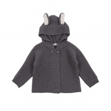 Gilet Oreilles Lapin Smudge Gris anthracite