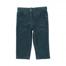 Pantalon Velours Bob Bleu canard