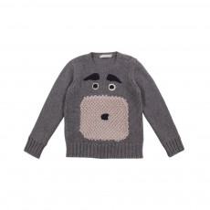 Pull Chien Claus Gris