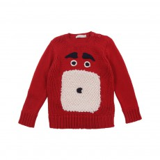 Pull Chien Claus Rouge