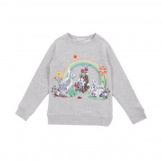 Sweat Lapins Arc en Ciel Betty Gris