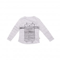 T-shirt Chat Barley Gris chiné