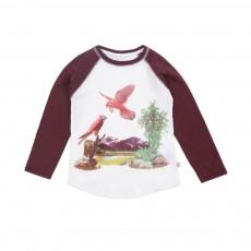 T-shirt Oiseaux Bicolore Max Blanc