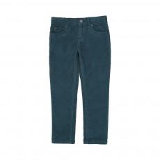 Pantalon Slim Velours Pedro Bleu canard