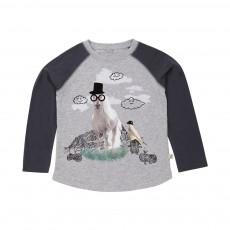 T-shirt Bicolore Cheval Max Gris chiné