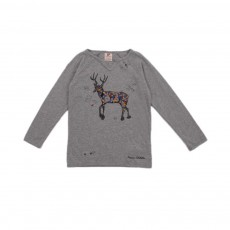 T-shirt Cerf Gris chiné