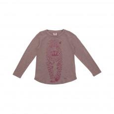 T-shirt Léopard Beige rosé
