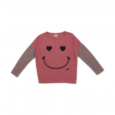 T-shirt Color Smiley Rose