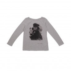 T-shirt Kate Moss Gris clair