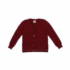 Cardigan Lurex Rouge