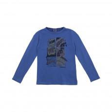 T-shirt Comic Bleu