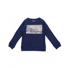 Sweat Avions Bleu indigo