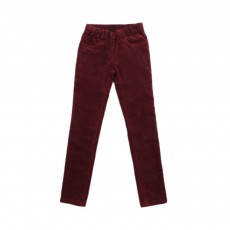 Jeggings Velours Bordeaux