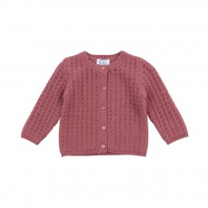 Cardigan Fleuriste BB Rose