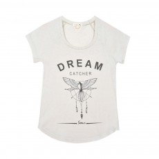 T-shirt Dream Catcher Blanc cassé