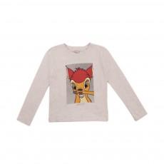 T-shirt Bambi Ecru chiné