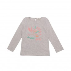 T-shirt Happy Gris chiné
