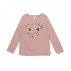 T-shirt Mistigri Beige rosé