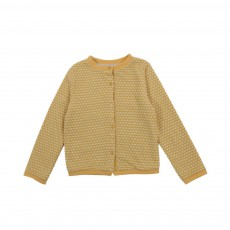 Cardigan Lovely Jaune moutarde
