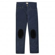 Pantalon Ziggy Velours Bleu