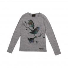 T-shirt Oiseaux Nolita Gris chiné