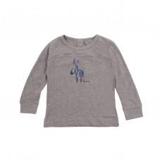 T-shirt Âne Manches Longues Gris chiné