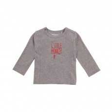 T-shirt Little Monkey Manches Longues Gris chiné