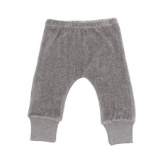 Pantalon Velours  Gris chiné
